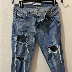 Ripped up Kancan jeans